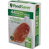 44 Count FoodSaver Pre-Cut Heat Seal Bags, Quart