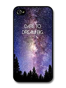 Dare To Dream Big Life & Love Inspirational Quote Stars & For Apple Iphone 4/4S Case Cover For Apple Iphone 4/4S Case Cover