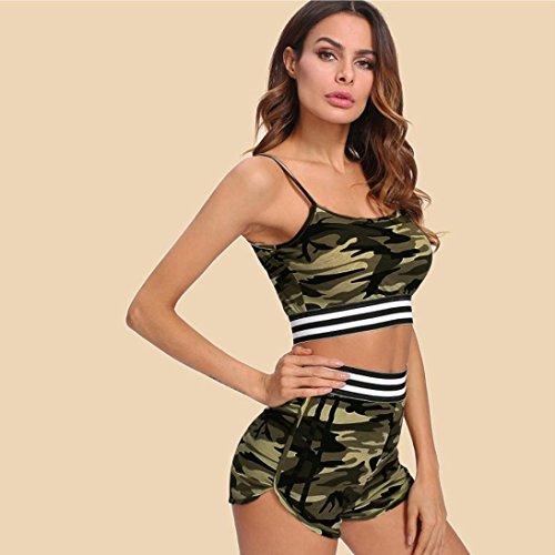 Gilet VICGREY Suit Camicia Senza Pants Shorts Suit Casual Hot Pezzi Spiaggia Camuffamento Tuta Camuffamento Pantaloncini Sexy Sport Maniche Ladies Due IwgIqrR