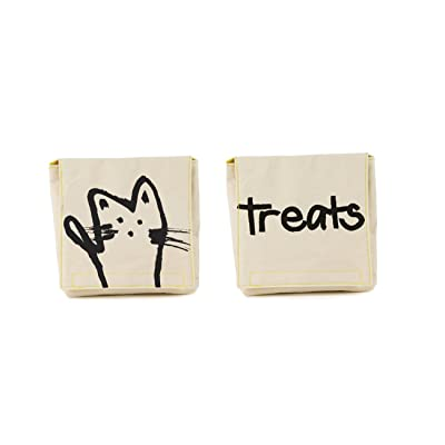 Fluf Reusable Sandwich & Snack Bags (Set of 2), Meow Cat Pack
