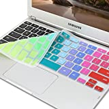 GMYLE(R) Rainbow Silicon Keyboard Cover (US Layout) for Samsung ARM 11.6