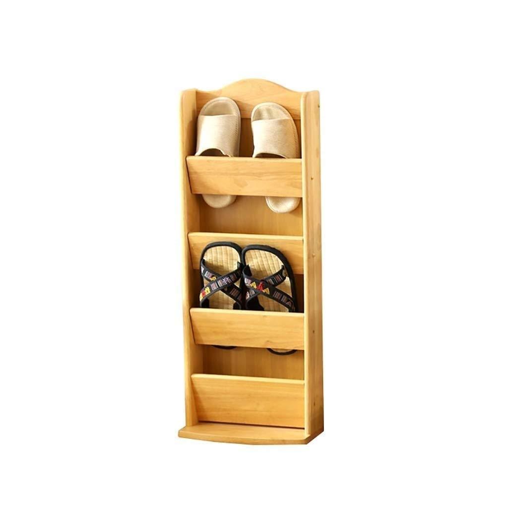 SCDXJ Shoe Rack - Modern Minimalist Creative Wooden Household Multi-Layer Solid Wood Shoes Shelf Multi-Layer Storage Rack Solid Wood Sandals and Slippers by SCDXJ