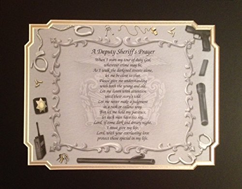 Deputy Sheriff's Prayer Gift Idea for Father's Day Birthday Graduation Promotion Any Occasion Dad Husband Son Daughter