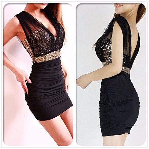 Escotados de hilado de la red vestidos transparentes las mujeres delgadas caderas paquete la mezcla del algodon