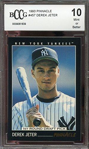 1993-pinnacle-457-derek-jeter-new-york-yankees-rookie-card-bgs-bccg-10-graded-card