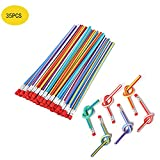 Flexible Bendy Pencil, 35 PCS Flexible Soft Pencil Colorful Stripe Soft Pencils with Eraser as Gift for Students or Children