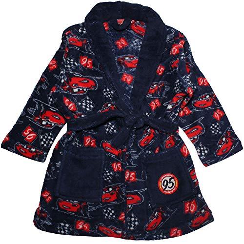 Disney Cars Boys Coral Fleece Dressing Gown Blue 2-3 Years ()