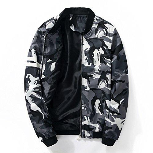 chaqueta de blanco hombres camuflaje el jóvenes delgada coreanos y la de Aérea hombre verano negocios de primavera Fuerza de 1860 de La tamaño ropa XL chaqueta gran wB7q1TE