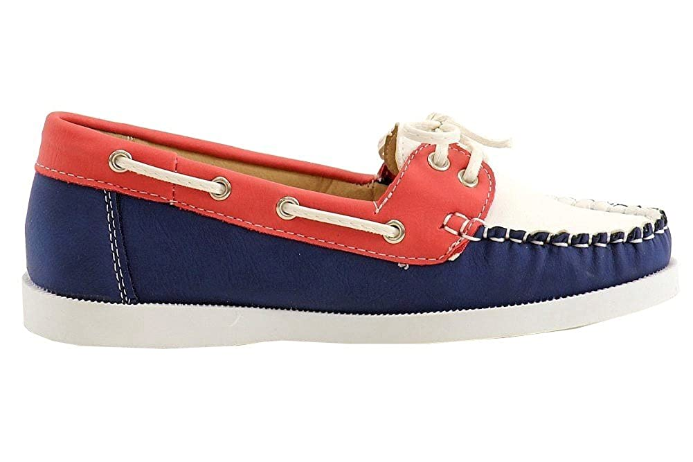 Easy Strider Girls Fashion Slip On Patriotic Boat Shoes