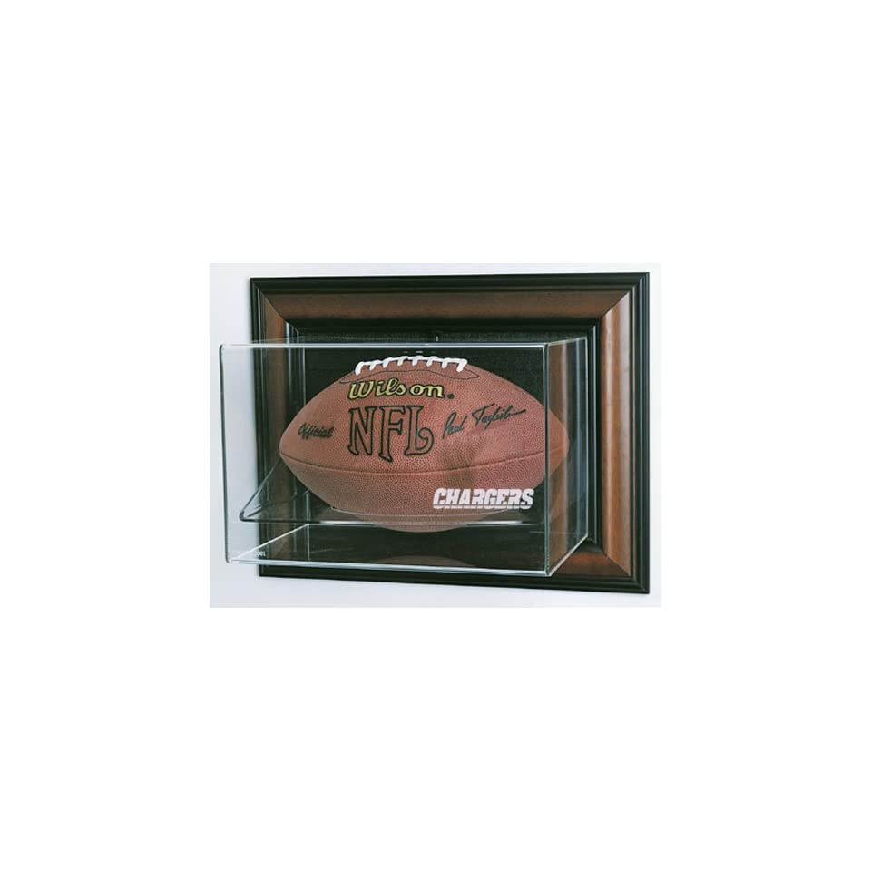 San Diego Chargers NFL Case Up Football Display Case (Horizontal) (Cherry)
