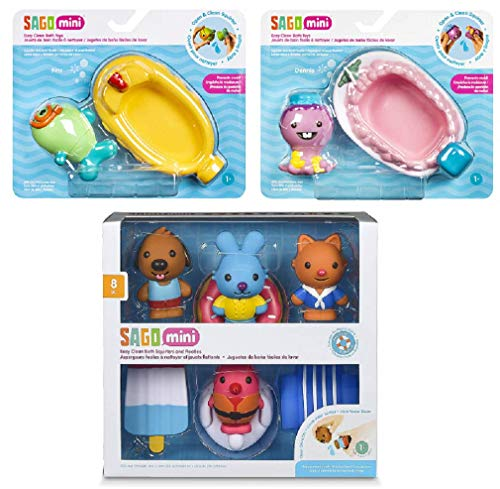 GUND Mini Bath Tub Toy Bundle, Bath Squirters and Floaties Gift Pack, Dennis Boat Toy and Fins Submarine Toy