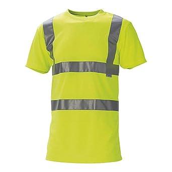 J.A.K. 1429118 Serie 11114 55% algodón/45% poliéster camiseta, EN 20471, clase 2, amarillo, talla 5XL: Amazon.es: Industria, empresas y ciencia