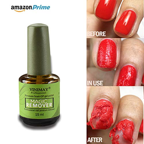 CARETHYS Magic Nail Polish Remover Professional Removes Soak-Off Gel Nail Polish In 3-5 Minutes, Easily & Quickly,Don't Hurt Your Nails (V)