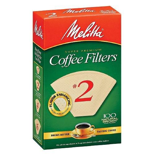 Melitta Super Premium Cone Coffee Filter, #2 100 Ea