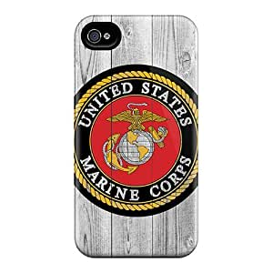 New Style Cases Covers ZoJ41512BysW Usmc Logo On Wood Compatible With Iphone 5/5S Protection Cases