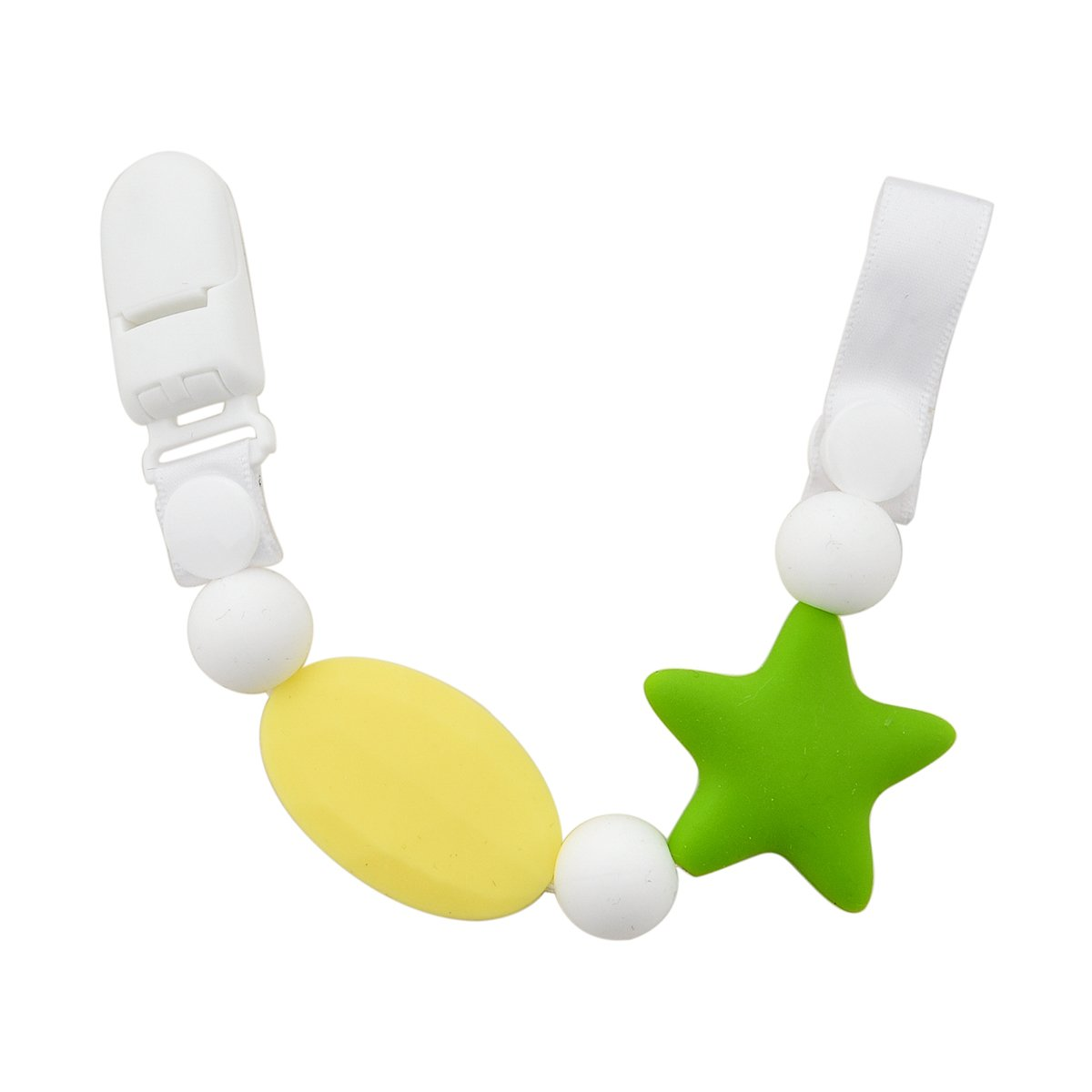 Teether Pacifier Colorful Silicone Soothie Image 3