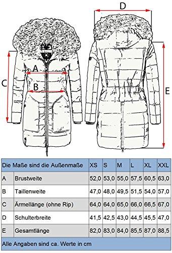 Pelliccia 9 Knuddelmaus Sintetica xxl Trapuntato Grigio Marikoo Con In Cappuccio Colori Xs Da Cappotto Invernale Donna 8fqRP
