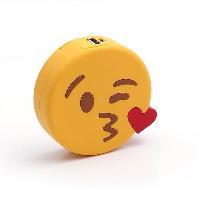 9 opinioni per UBMSA Powerbank Emoji, caricabatteria esterno a forma di unicorno, colore rosa e