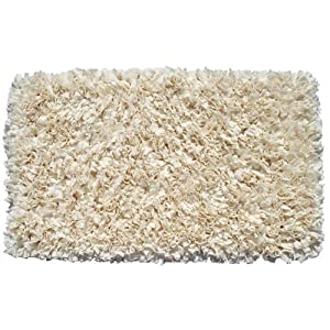 R 16 Home Shaggy Raggy Rug, 22″ x 34″, Cream