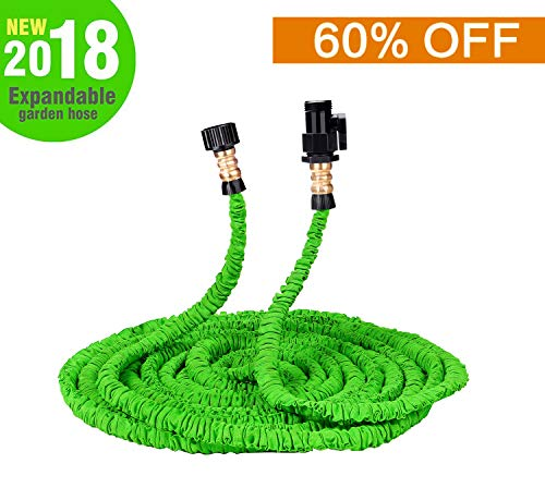 Wingogh Expandable Garden Hose – 25ft Expanding Pressure Garden Water Hose, Brass Fitting & Triple Layer Latex Core & Latest Improved Extra Strength Fabric Protection All Your Watering Needs