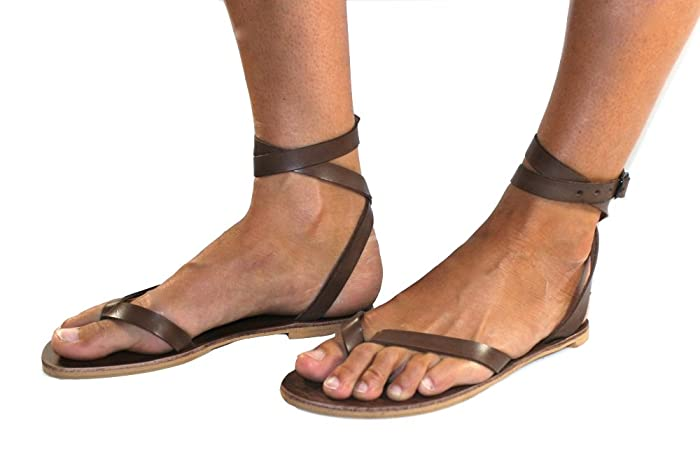 15acb1be8 Image Unavailable. Image not available for. Color  Brown Swell Leather  Sandals for Women   Men - Handmade ...