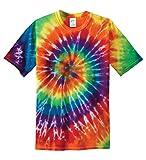 Gravity Threads Mens Tie-Dye Short-Sleeve T-Shirt - Rainbow - X-Large