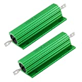 uxcell 100W 4 Ohm Screw Tap Mounted Aluminum Housed Wirewound Resistors 2 Pcs