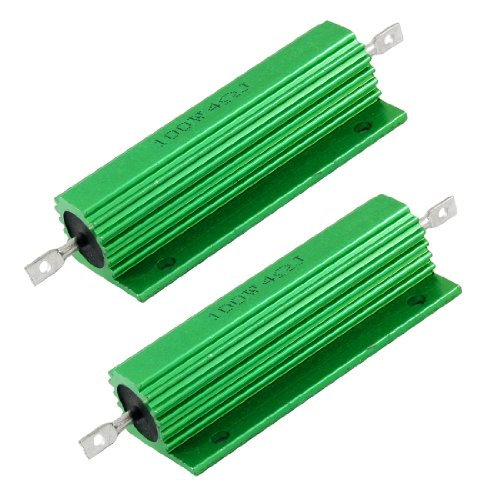 (uxcell 100W 4 Ohm Screw Tap Mounted Aluminum Housed Wirewound Resistors 2 Pcs)