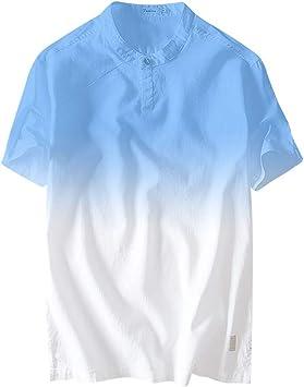 ღLILICATღ Camisa Para Hombre Casual Con Cuello En O Camisetas Holgada Transpirable Color Degradado Blusas De Manga Corta Tops: Amazon.es: Bricolaje y herramientas