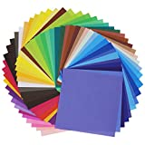 SOOKOO 50 Vivid Colors 200 Sheets Single Sided Origami Paper for Arts and Crafts Projects, 6-Inch by 6-Inch