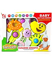 Baby Rattles Set For Babies, Multicolor, With Different Shapes, 5 Pieces