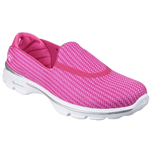Skechers Womens/Ladies Go Walk 3 Slip On Shoes (7 US) (Pink) For Sale