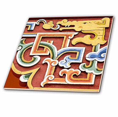 3dRose Danita Delimont - Artwork - Asia, Mongolia, Ulaanbaatar, Gandantegchinlen, Gandan, Monastery. - 8 Inch Glass Tile (ct_276934_7) by 3dRose (Image #1)