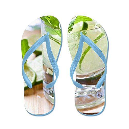 Cocktail Al Mojito Cocktail In Un Bicchiere - Infradito, Sandali Infradito Divertenti, Sandali Da Spiaggia Blu Caraibico