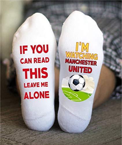 Manchester United Socks Football Funny Birthday Gift Game Day