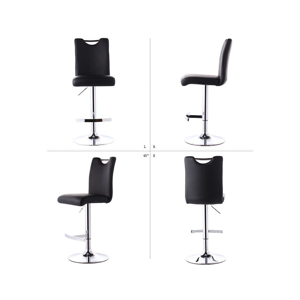 Amazon.com: Mesurn Leisure Bar Chairs, High Stools, Can Be Raised and Lowered Rotation Continental Coffee Shop Bar Front Desk Chair PU Material, ...