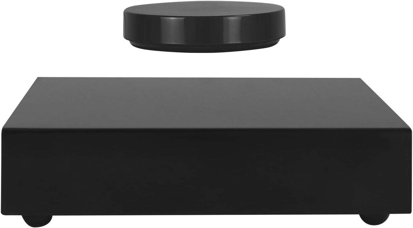 KINGLEV Magnetic Levitation Platform, 360° Floating Rotating Display Stand Disk Holder, Home Decor Sculpture Art Show Shelf, for Living Room,Office,Shop Decoration, Up to 350g(13 Ounces)