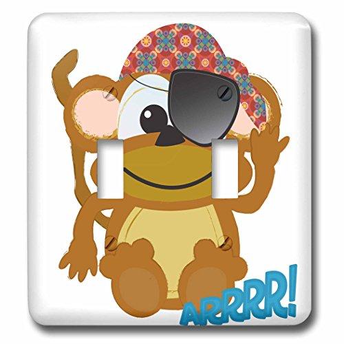 3dRose LLC lsp_102037_2 Cute Goofkins Monkey Pirate Carto...