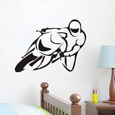 zqyjhkou Deporte Moto Vinilo extraíble Arte calcomanía ...