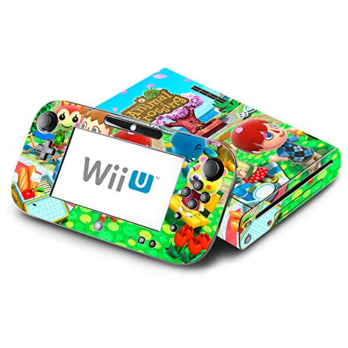 Animal Crossing New Leaf Spring Season Decorative Decal Cover Skin for Nintendo Wii U Console and GamePad