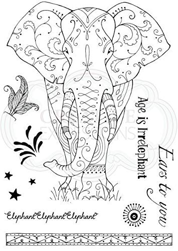 - Pink Ink Designs A5 Clear Stamp Set Elephant