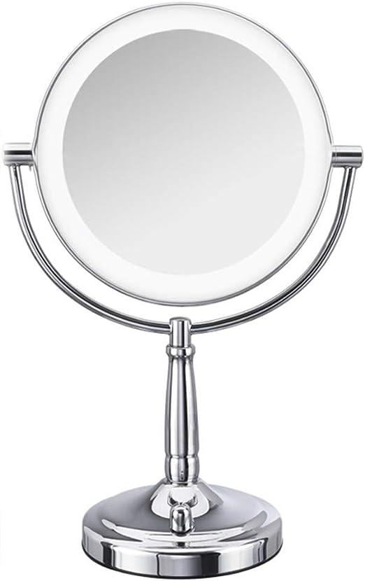 CMHZJ Espejo De Mesa con Doble Cara Espejos De Vanidad De ...