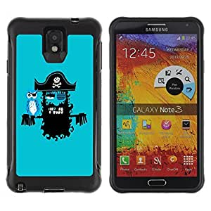 Hybrid Anti-Shock Defend Case for Samsung Galaxy Note 3 / Pirate & Parrot