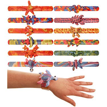 12 x ANIMAL SNAP BRACELET CHILDREN KIDS LOOT GOODY PARTY BAGS PINNATA FILLERS TOYS HENBRANDT