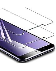 ESR Verre trempé pour Samsung Galaxy A8 (2 Pièces), [Taille Réduite conçue pour Les Coques], Film Protection Ecran Ultra Résistant, Indice Dureté 9H