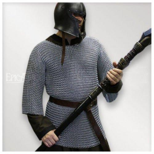 NasirアリアルミニウムChainmailシャツButted中世チェーンメールHaubergeon Armorコスチューム B07F3W851F