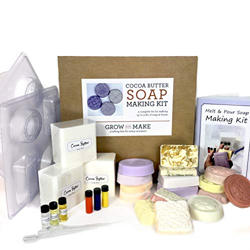 DIY Cocoa Butter Soap Making Kit - Learn How to Craft Custom Scented and Dyed Soap Bars