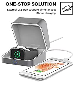 UnitedUshop 2018 iBox Powercase Portable Wireless 5500mAh Charger for Apple Watch Series 3/ Series 2/ Series 1/ Iphone X 10/ Iphone 8/ Any Smart phones