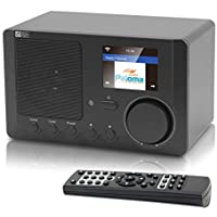 Ocean Digital Internet Radio WR-210CB Wi-Fi Bluetooth Receiver With 2.4 Color Display Wireless Speaker -Black