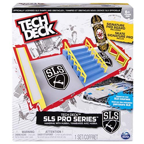 (TECH DECK - SLS Pro Series Skate Park - Handrail with Hubba and Signature Pro Board)